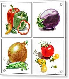 Farmers Market Delight  Acrylic Print by Irina Sztukowski