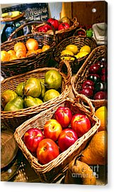 Farmer's Market Acrylic Print by Olivier Le Queinec