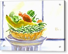Farmers Market V Summers Harvest In The Window Acrylic Print by Kip DeVore