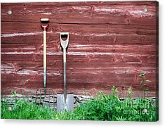 Acrylic Print featuring the photograph Farmers Old Tools by Kennerth and Birgitta Kullman