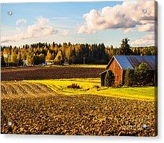 Farmer's Sunny Autumn Day Acrylic Print