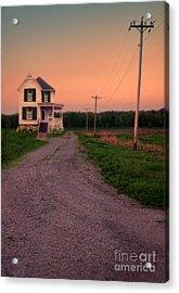 Farmhouse On Gravel Road Acrylic Print by Jill Battaglia