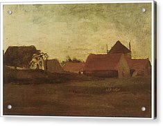 Farmhouses In Loosduinen Near The Hague At Twilight Acrylic Print by Vincent van Gogh