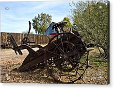 Farming Days Are Done Acrylic Print by Lee Craig