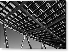 Acrylic Print featuring the photograph Farming The Sun - Architectural Abstract by Steven Milner