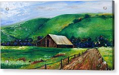 Acrylic Print featuring the painting Farmland by Emery Franklin