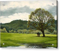 Acrylic Print featuring the mixed media Farmland Hwy 36 by Kenny Henson