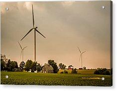 Farms And Windmills Acrylic Print