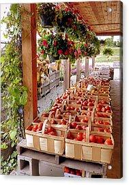 Farmstand Acrylic Print by Janice Drew