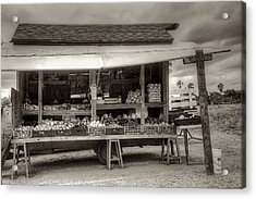 Farmstand Acrylic Print by William Wetmore