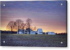 Farmstead At Sunset Acrylic Print