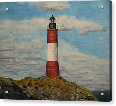 Acrylic Print featuring the painting Faro Del Fin Del Mundo by Stan Tenney