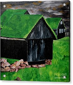 Faroe Houses Acrylic Print