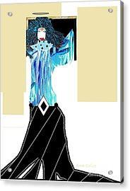 Acrylic Print featuring the digital art Fashion Angel by Ann Calvo