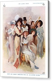 Fashion At Ascot Races 1911 1910s Uk Cc Acrylic Print by The Advertising Archives