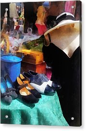 Fashion - Clothing For Sale At Flea Market Acrylic Print