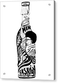 Fashion In A Bottle Acrylic Print by Kenal Louis