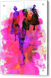 Fashion Models 1 Acrylic Print by Naxart Studio