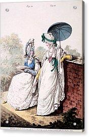 Fashion Plate Of Ladies Morning Dress Acrylic Print