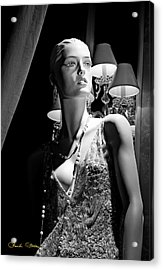 Fashionable Lady Acrylic Print