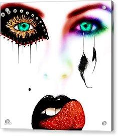 Fashionista Soft Rainbow Acrylic Print