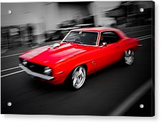 Fast Camaro Acrylic Print by Phil 'motography' Clark