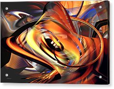 Fast Fire - Abstract Acrylic Print