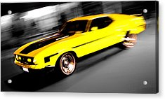 Fast Ford Mustang Mach 1 Acrylic Print