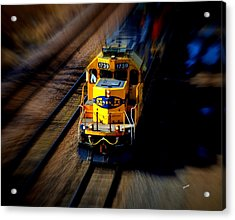 Fast Moving Train Acrylic Print