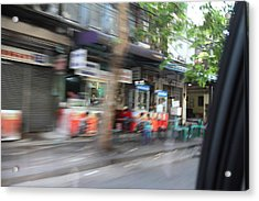 Fast Paced City Life - Bangkok Thailand - 01132 Acrylic Print by DC Photographer