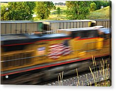 Acrylic Print featuring the photograph Fast Train by Bill Kesler