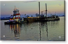 Fat Cat At Sunset Acrylic Print by Joseph Coulombe