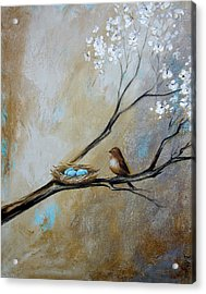 Fat Little Bird's Nest Acrylic Print