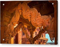 Fatehpur Sikri Detail Acrylic Print by Inge Johnsson