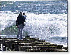 Acrylic Print featuring the photograph Father And Son by Greg Graham