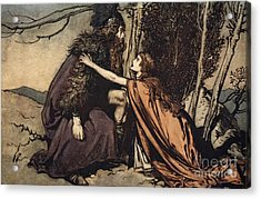 Father Father Tell Me What Ails Thee With Dismay Thou Art Filling Thy Child Acrylic Print by Arthur Rackham