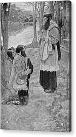 Father Hennepin Celebrating Mass, Illustration From La Salle And The Discovery Of The Great West Acrylic Print by Howard Pyle