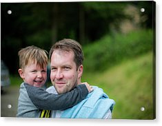 Father Holding Son Acrylic Print