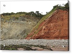 Fault At Blue Anchor Acrylic Print