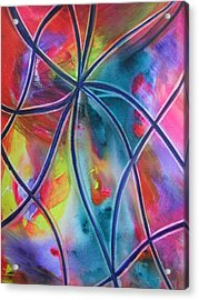 Faux Stained Glass 1 Acrylic Print
