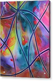 Faux Stained Glass II Acrylic Print