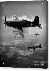 Acrylic Print featuring the photograph Faux Wwii Corsair Photo by Stephen Roberson