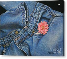Acrylic Print featuring the painting Favorite Jeans by Pamela Clements