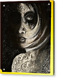 Acrylic Print featuring the painting Favourite Black by Sandro Ramani