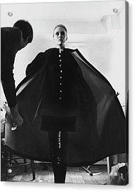 Faye Dunaway Wearing A Melton Coat Acrylic Print