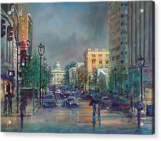 Fayetteville Street First Light Acrylic Print