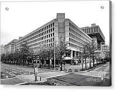 Fbi Building Front View Acrylic Print by Olivier Le Queinec