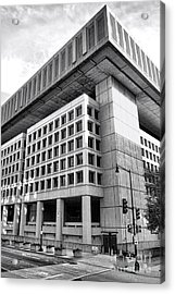 Fbi Building Rear View Acrylic Print by Olivier Le Queinec