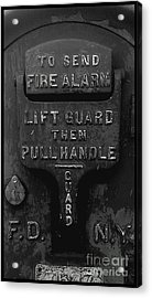 Fdny - Alarm Acrylic Print by James Aiken