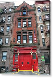 Fdny Engine 74 Firehouse Acrylic Print by Steven Spak